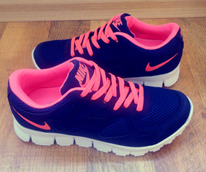 nike, pink, and blue image