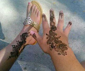 black, foot, and henna image