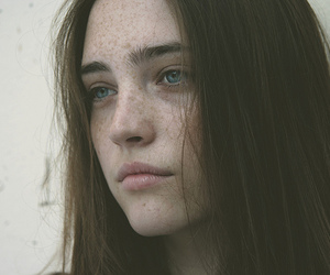 freckles, girl, and hair image