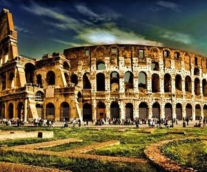 italy, colosseum, and roma image