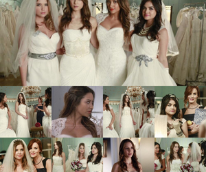 wedding dress, lucy hale, and pretty little liars image