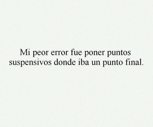 error, final, and frases image