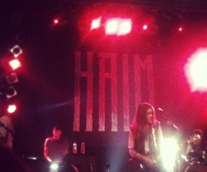 concert, girlband, and haim image