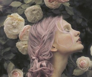floral, pastel goth, and pretty image