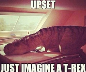 funny, laugh, and t-rex image