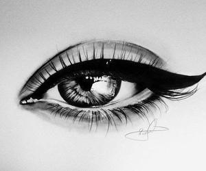 eye, drawing, and art image