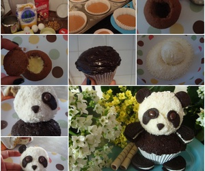 panda, diy, and cupcake image