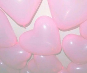 balloon, heart, and wallpaper image