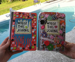 buttons, wreck this journal, and book image