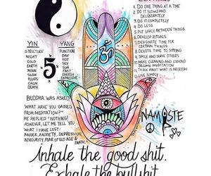 namaste, peace, and Buddha image