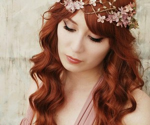 beautiful hair, long hair, and red hair image