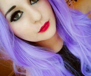 dyed hair and lavender hair image