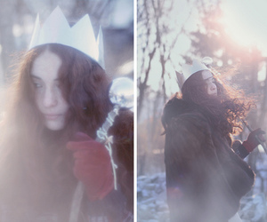 crown, girl, and winter image