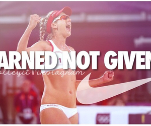 beach volleyball, motivation, and quotes image