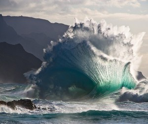 colorful, surf, and wave image