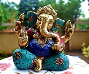 blue, swag, and Ganesha image