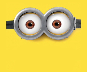 eyes, minions, and wallpaper image