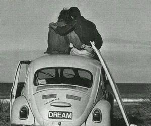 black&white, boy, and couple image