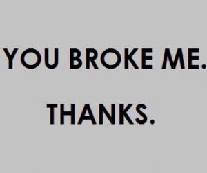 sad, thanks, and broke image