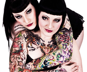 black, girls, and psychobilly image