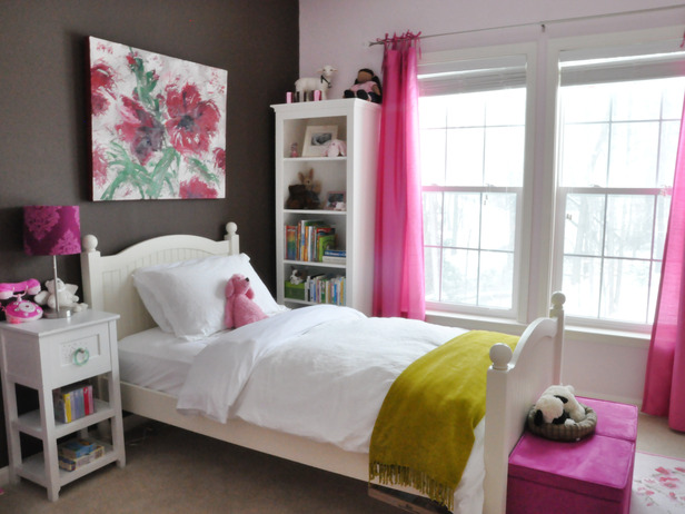 pink and brown room theme