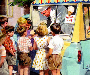 ice cream, summer, and vintage image