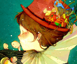 art, illustration, and boy image