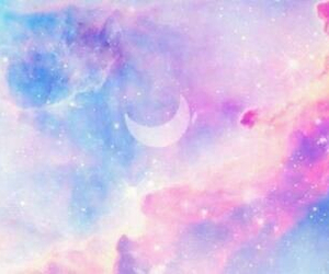 background, moon, and pink image