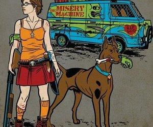 scooby doo, velma, and zombie image