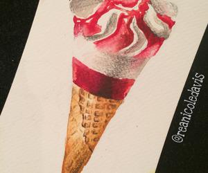 art, cone, and cornetto image
