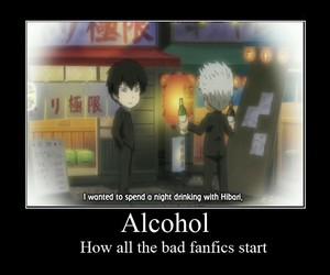 alcohol, anime, and hibari image