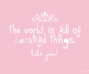 beautiful, pink, and quotes image