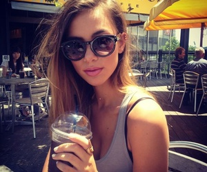girl, pretty, and sunglasses image