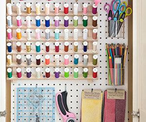 craft, pegboard, and storage image
