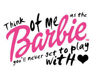barbie, text, and pink image