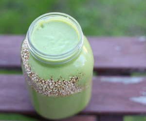 drinks, fruit, and green smoothie image
