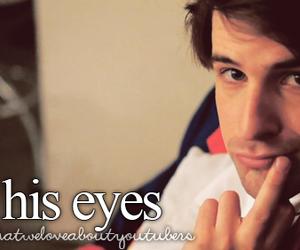 eyes, youtube, and youtubers image