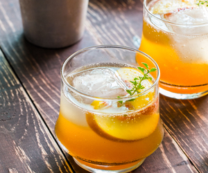 cocktail, drink, and peach image