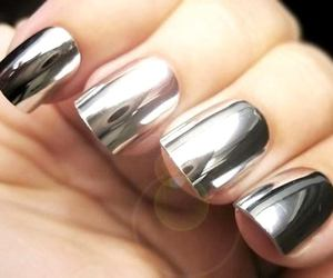 fashion, nails, and siver image