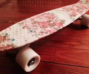 penny board flowers ♡ image