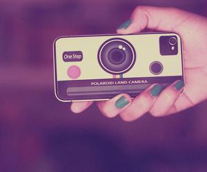 camera, iphone, and polaroid image