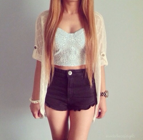 Jeans Taille Haute Tumblr Recherche Google On We Heart It