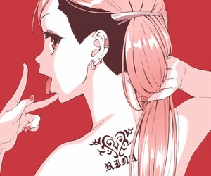 anime, bare back, and swag image