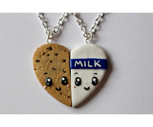 milk, cookie, and necklace image