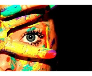 eye, paint, and color image