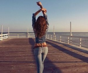 body, jeans, and backdimples image