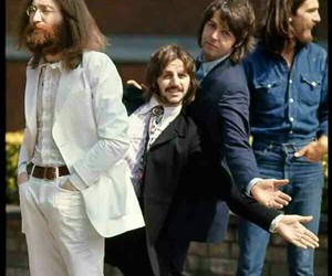 the beatles, john lennon, and george harrison image