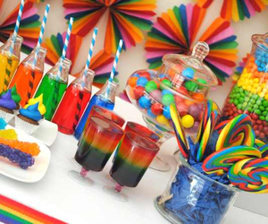 party and rainbow image