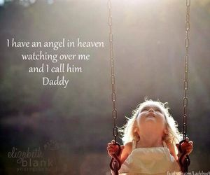 angel, child, and dad image