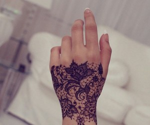 henna, unique, and lace image